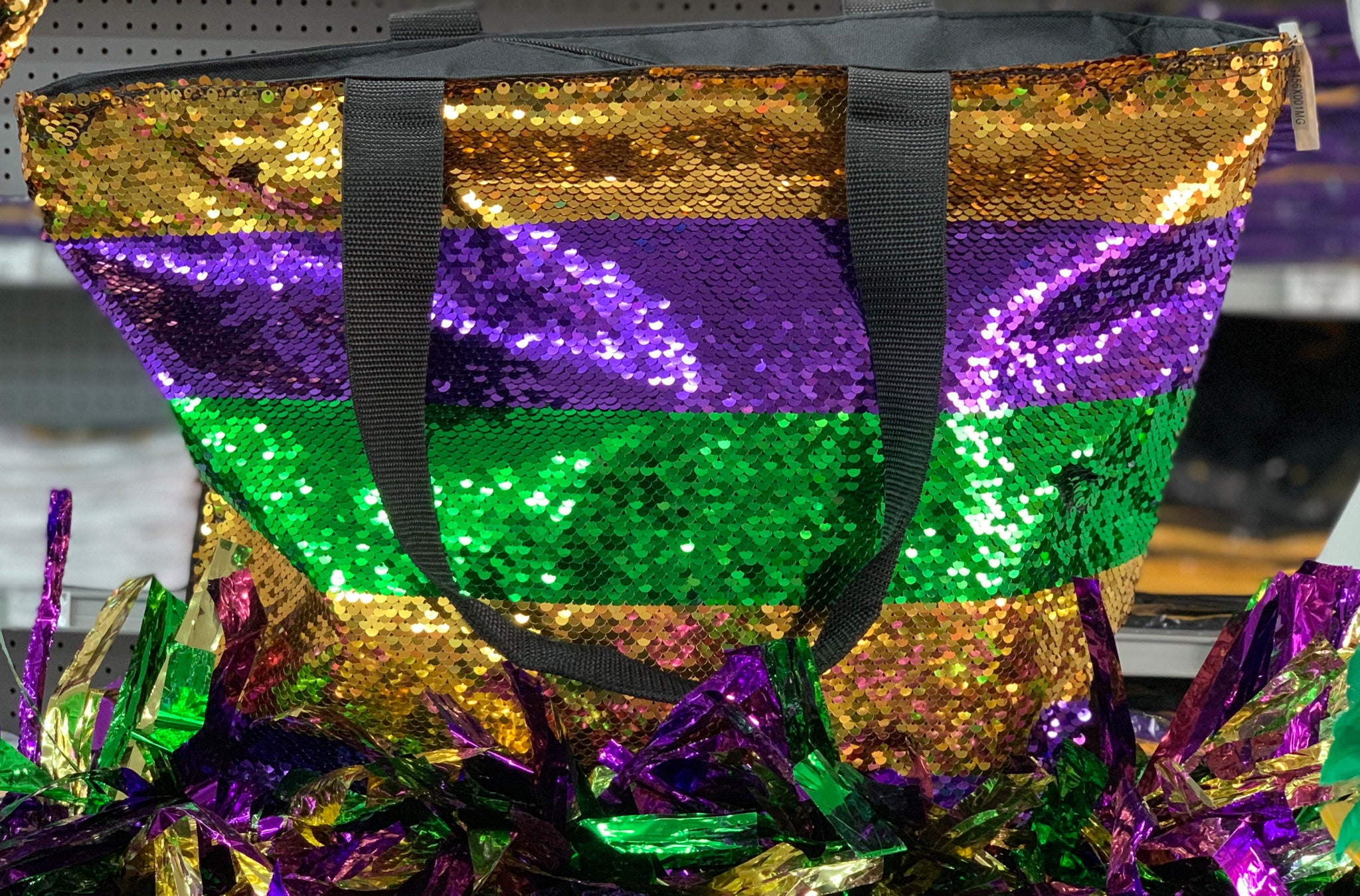 Mardi Gras Sequin Bag