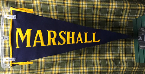 "Pennant: 32"" Marshall pre1910-1930s Sewn Letters Wool A&Co. NY"