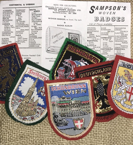 "Patches: 2"" x 2.75"" Sampson's Woven Destination Badges (See Choices)"