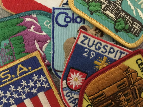 "Patches: 2"" x 2.75"" Destination Badges Iron On Patch (See Choices)"