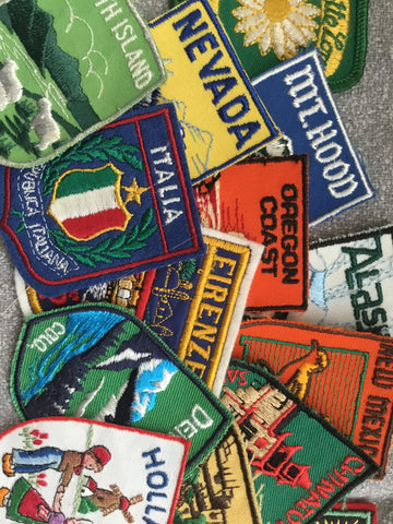 "Patches: 2"" x 2.75"" Destination Badge Sew On (See Choices)"