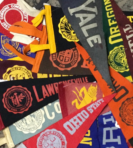 "Pennants: College 1940-60 8-9"" (See Choices)"