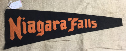 "Pennant: New York - Niagara Falls - 26"" Wool, Sewn Letters, pre1930 -1950ss"