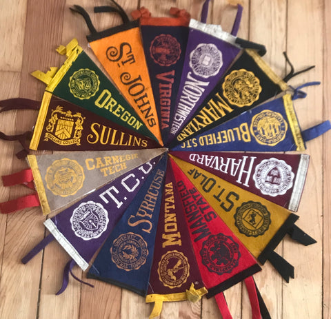 Pennants: College 1950-60 8.5""