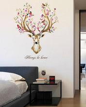 Load image into Gallery viewer, Floral Sika Deer Wall Decal Stickers