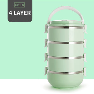Thermal Bento Style Stainless Steel Lunch Box