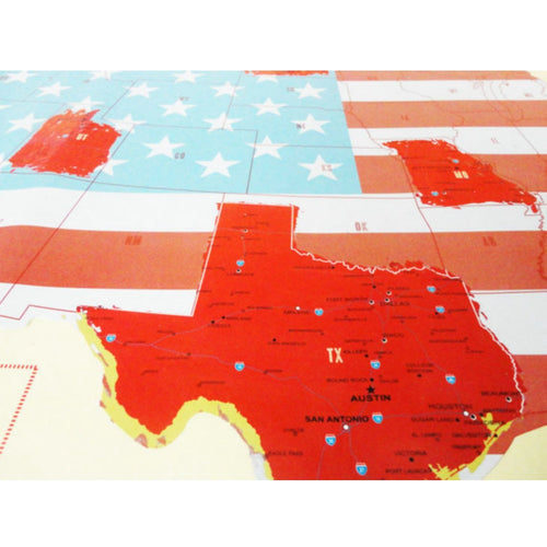 USA Scratch Off Travel Map Wall Decal
