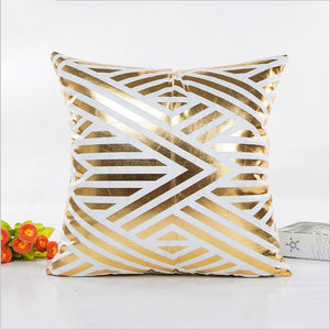 Gold Printed Couch Cushion Covers