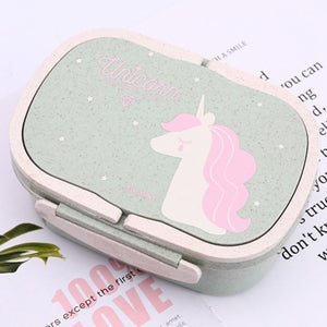 Unicorn Eco-Friendly 2-Layer Lunch Box