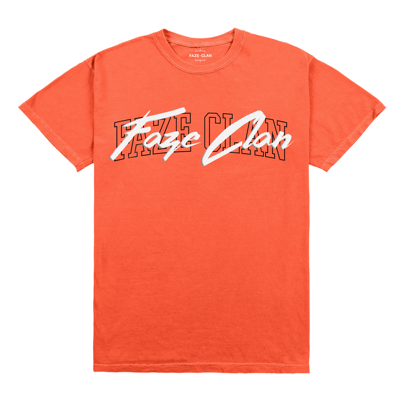 Double FaZe Overlap Tee - Neon Red Orange