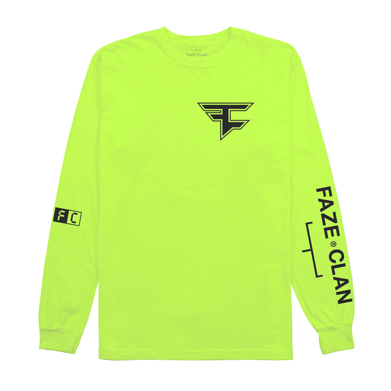 FC Core Neon Green Long Sleeve