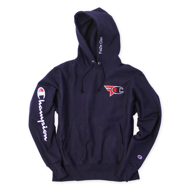 FaZe Clan x Champion Hoodie Navy Blue