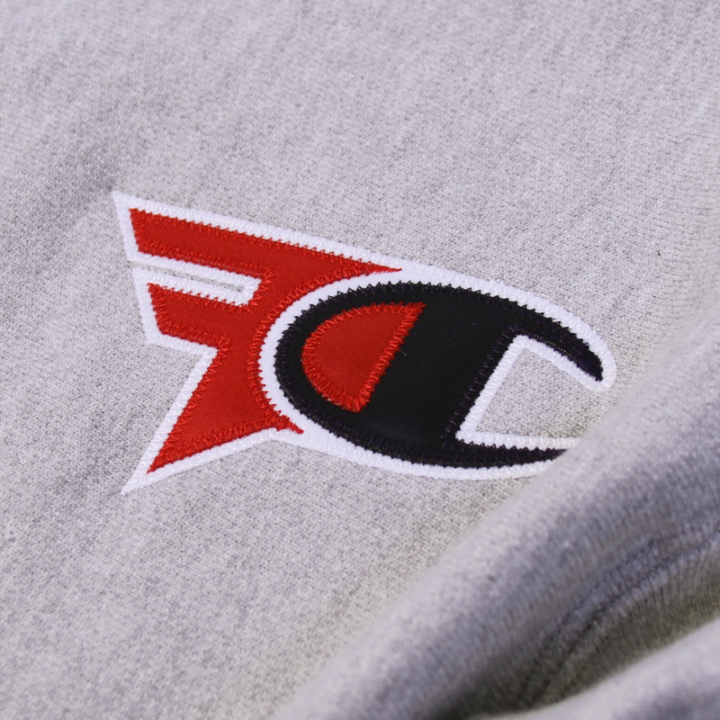 FaZe Clan x Champion Hoodie Heather Grey