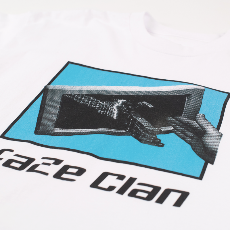 FaZe Clan Digital Handshake Long Sleeve Tee White