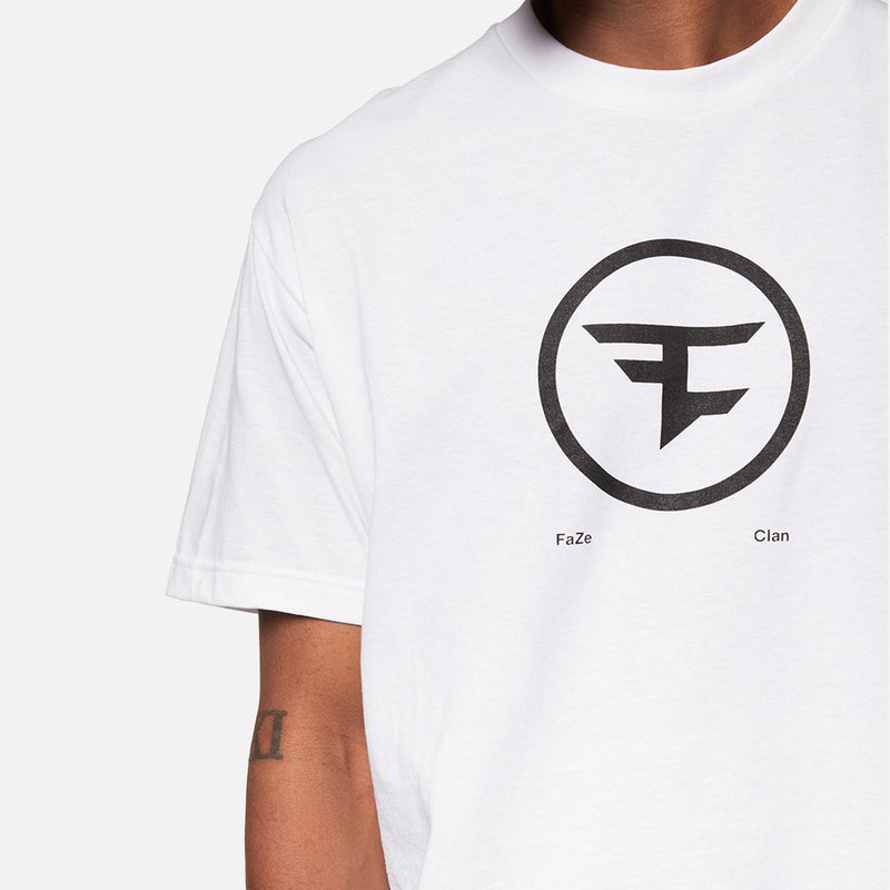 FaZe Clan White Circle Logo Tee