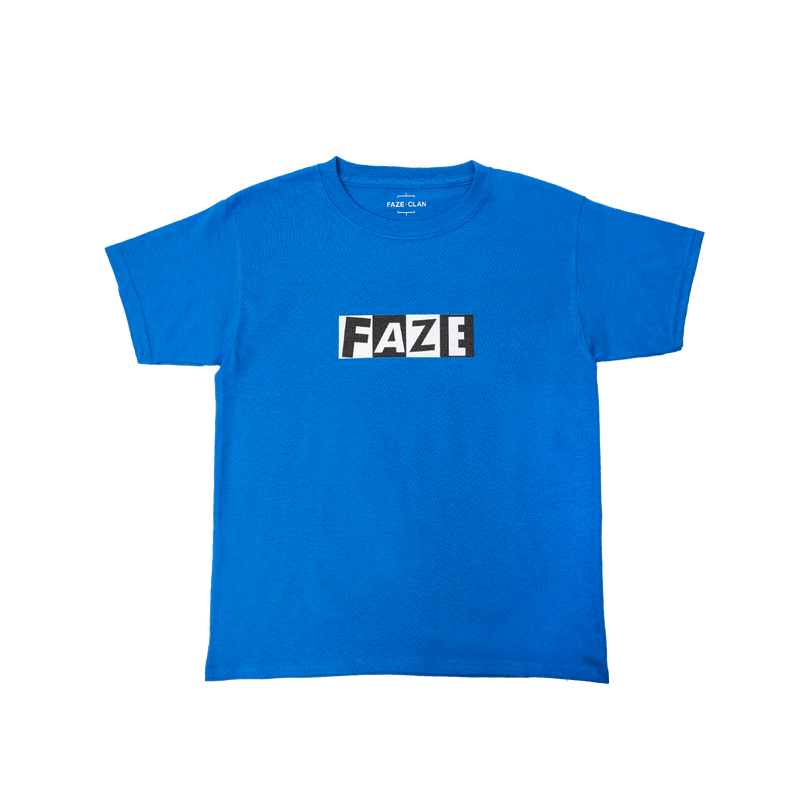 FaZe Network Youth Tee - Royal Blue