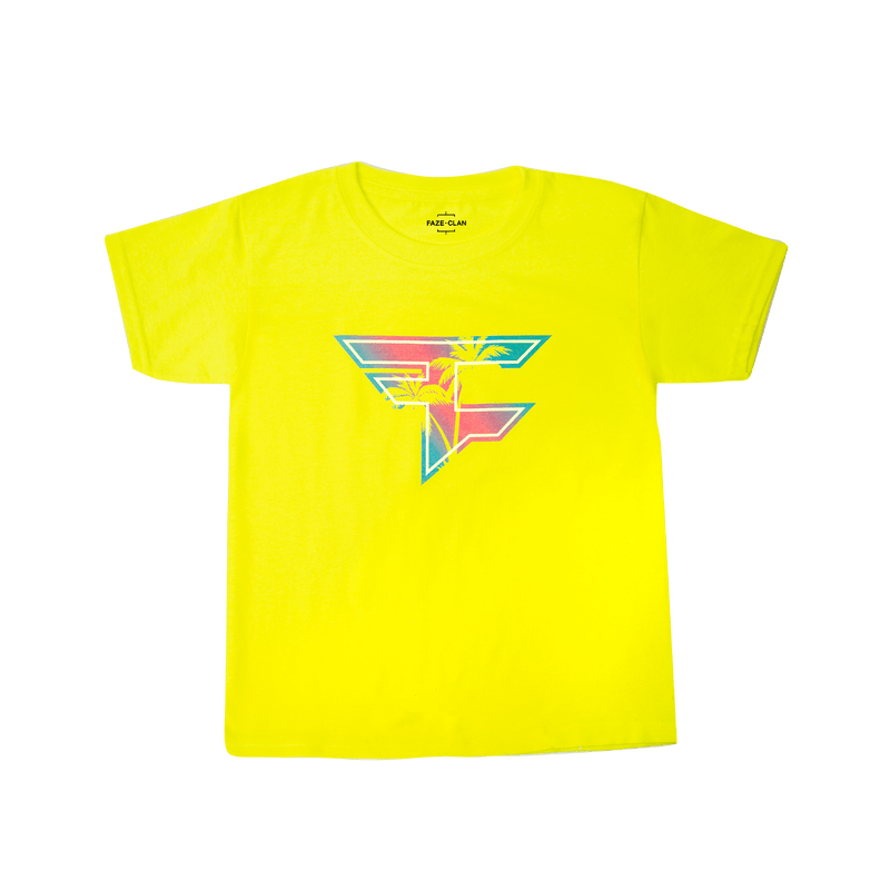 FaZe Palm Youth Tee - Safety Green
