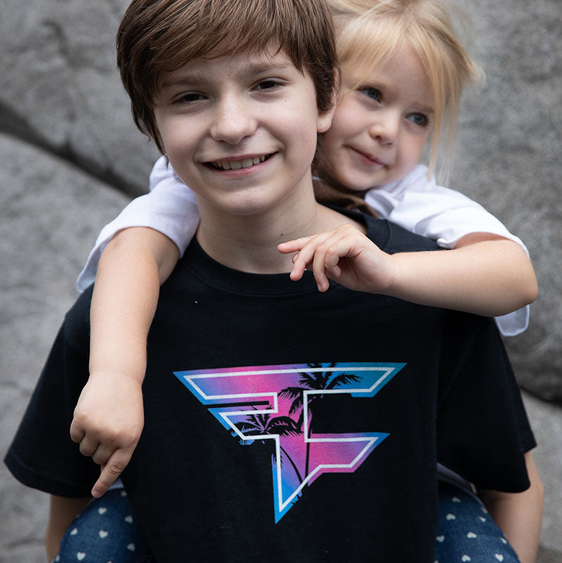 FaZe Palm Youth Tee - Black