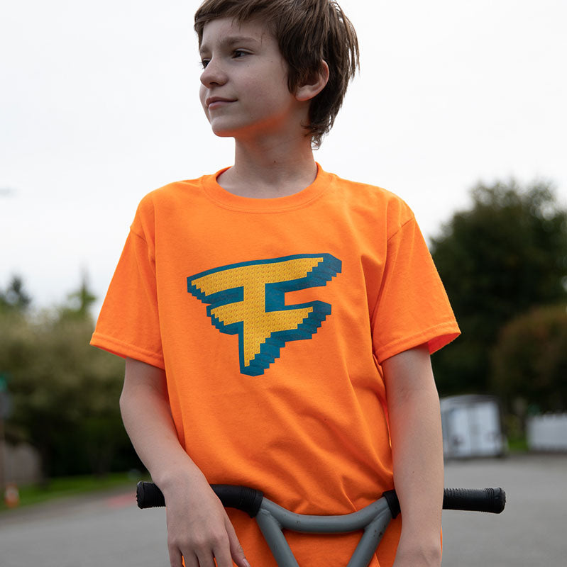 FaZe Lego Youth Tee - Safety Orange