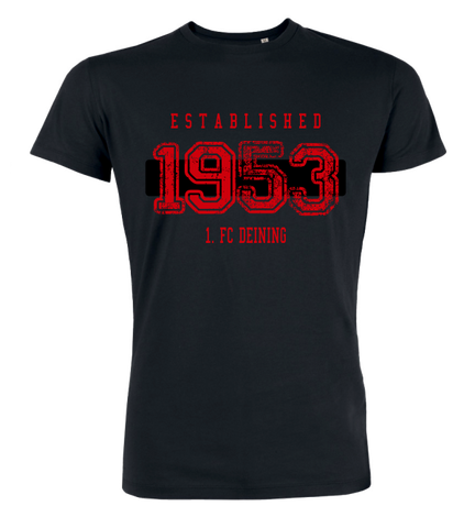 "T-Shirt ""1. FC Deining Established"""
