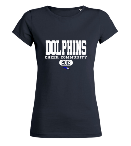 "Women's T-Shirt ""Dolphins Cheer Community Standford"""