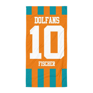 "Handtuch ""Miami Dolfans Germany #stripes"""