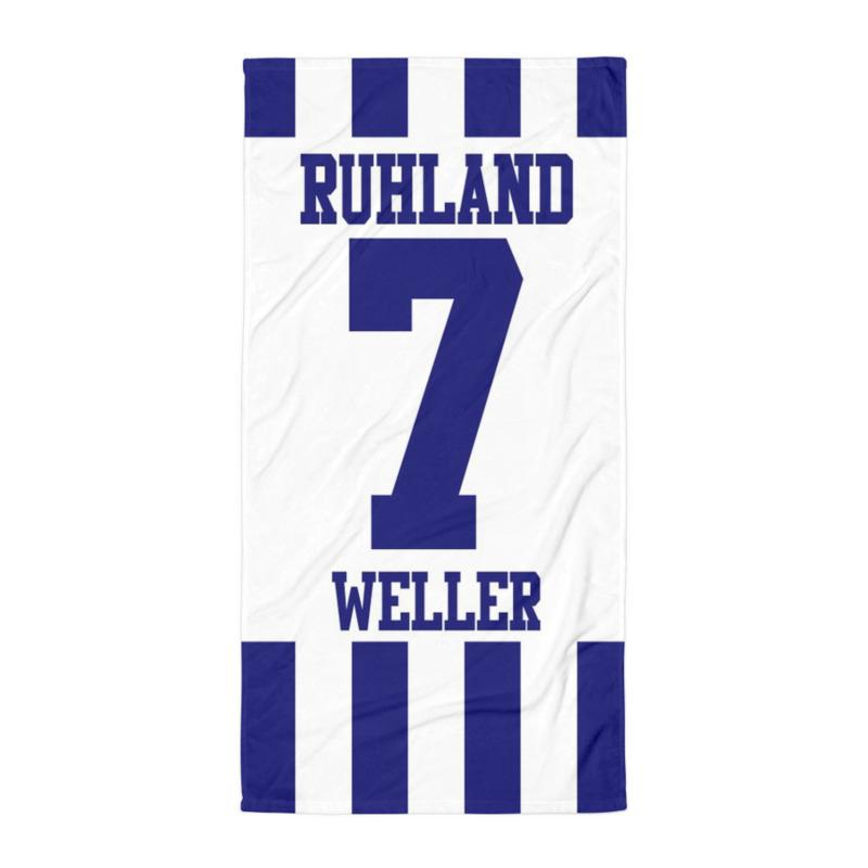 "Handtuch ""SV Germania Ruhland #stripes"""