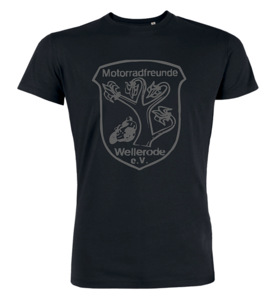 "T-Shirt ""Motorradfreunde Wellerode Background"""