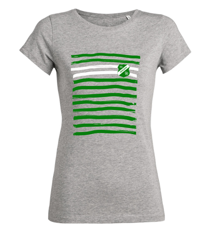"Women's T-Shirt ""SV Grün-Weiß Bergzow Stripes"""