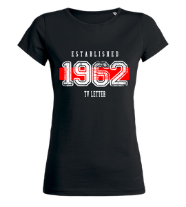 "Women's T-Shirt ""TV Letter Established"""