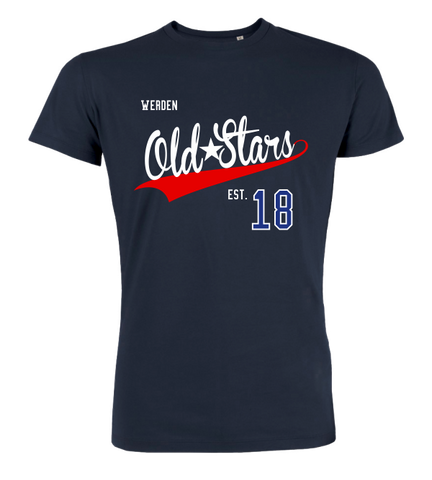 "T-Shirt ""Werden Old Stars Town White-Red"""