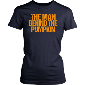 The Man Behind the Pumpkin Shirt Funny Dad to Be Halloween T-Shirt
