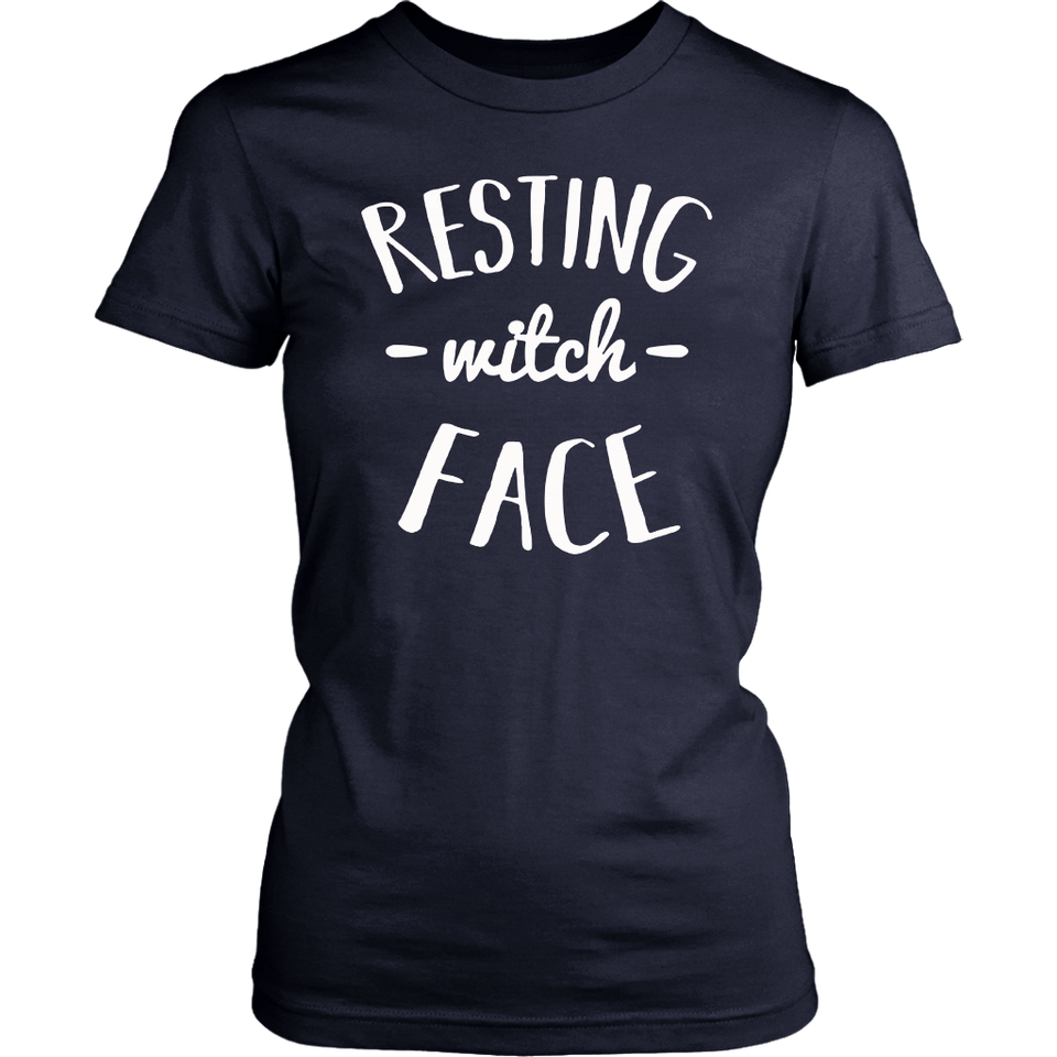 Resting Witch Face Funny Halloween Party Shirts