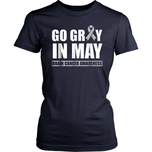 Go Gray in May Brain Cancer Awareness Shirt