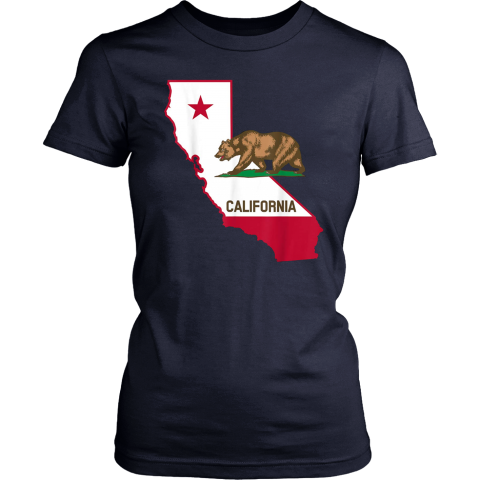 California Bear And Map T-Shirt Cool Gift