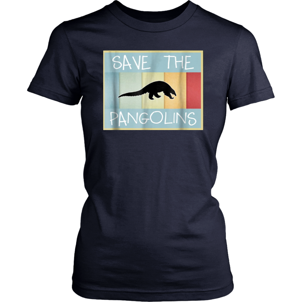 Save the Pangolins t shirt vintage 1970s style