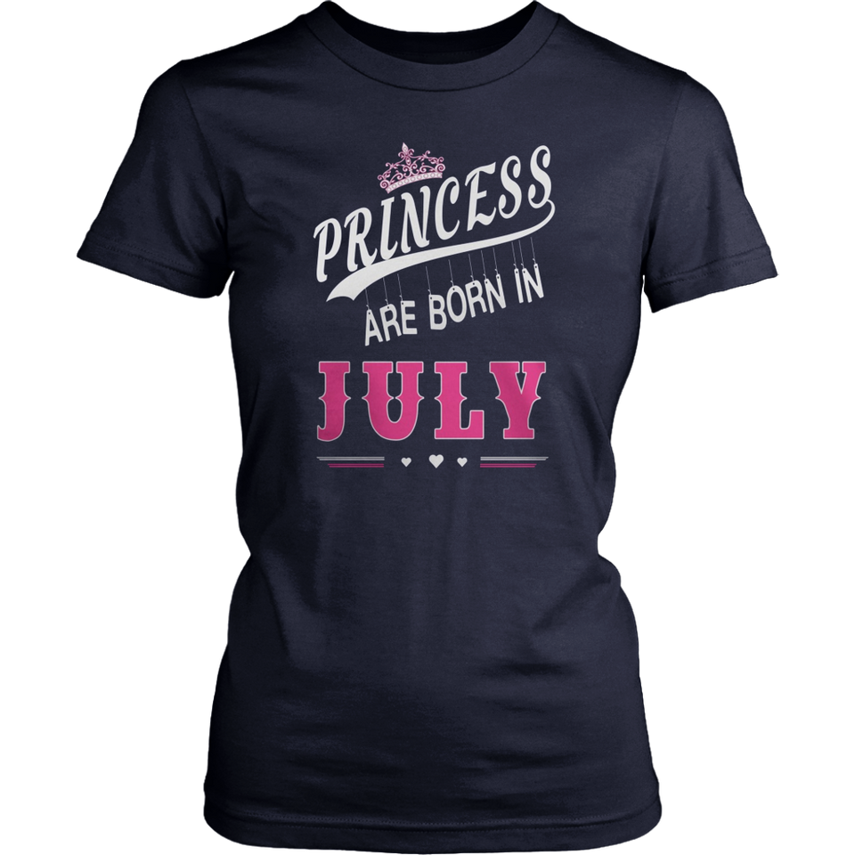 Princesses Are Born In July T-Shirt