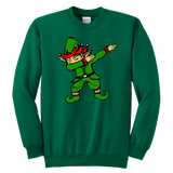 Dabbing Elf Elves Xmas Youth Sweatshirt