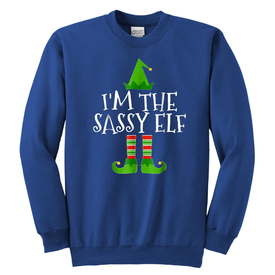 I'm The Sassy Elf Crewneck Sweatshirt