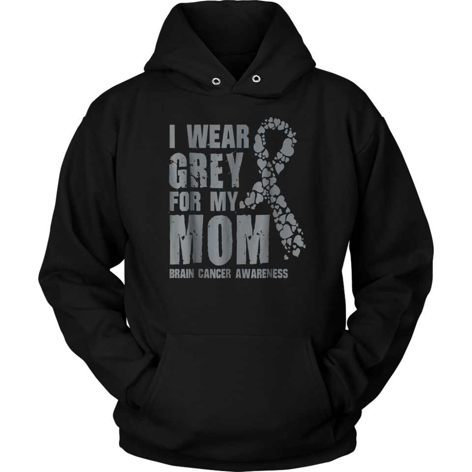Brain Cancer Awareness Products I Wear Grey For My Mom Tee