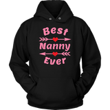 Best Nanny Ever Circle Flower Mother's Day Gift T-Shirt