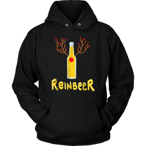 Reinbeer t shirt - reindeer outfit and Christmas beer gift tshirt