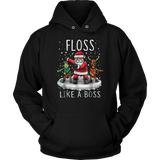 Floss Like A Boss T-Shirt Flossing Santa Christmas T-Shirt