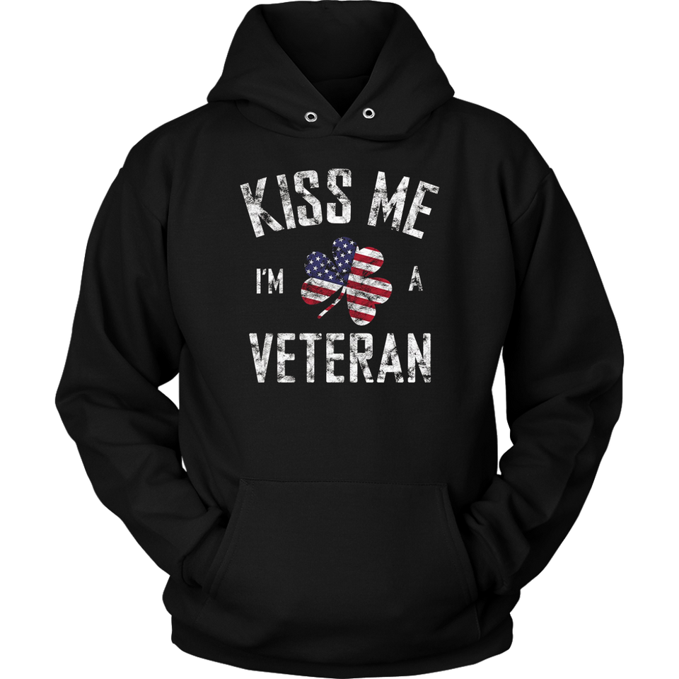 Kiss Me I'm A Veteran Irish St Patrick's Day Gift