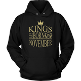 Kings Are Born In November Shirts