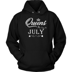 Queens Are Born In July Birthday T-Shirt