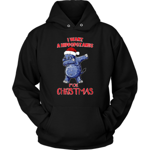 I Want a Hippopotamus for Christmas Shirts Hippo T-Shirt