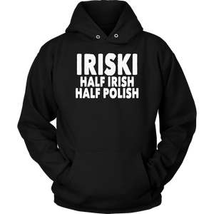 Iriski Half Irish Half Polish T-Shirt Shamrocks
