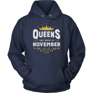 Queens Are Born In November Shirt