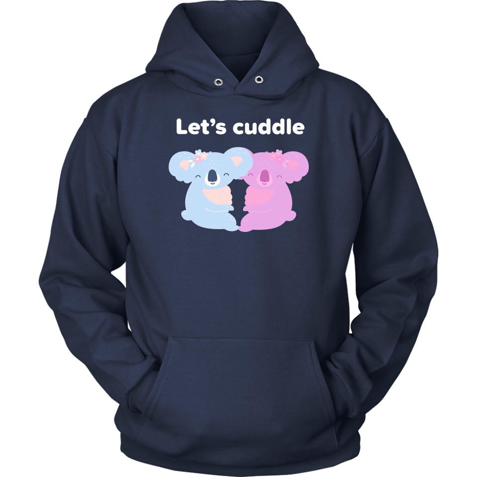 Let's Cuddle Koala Bears Love Heart Graphic T Shirt